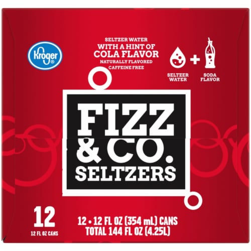 Kroger® Fizz & Co. Cola Flavored Seltzer Water Perspective: left