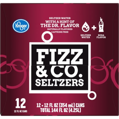 Kroger® Fizz & Co. The Dr. Flavored Seltzer Water Perspective: left