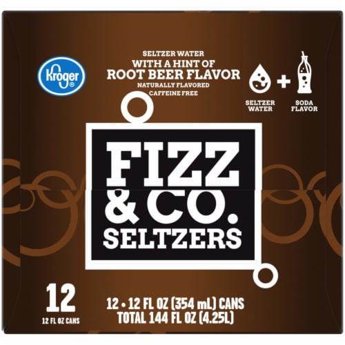 Kroger® Fizz & Co. Root Beer Flavored Seltzer Water Perspective: left