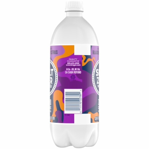 Kroger® Blackberry Citrus Seltzer Water Perspective: left