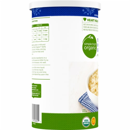 Simple Truth Organic® 100% Whole Grain Rolled Oats Perspective: left