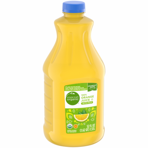 Simple Truth Organic® 100% Orange Juice with Pulp Perspective: left