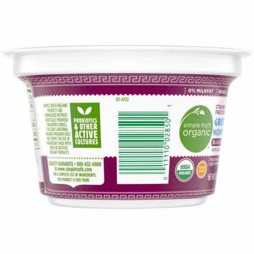 Simple Truth Organic® Strained Black Cherry Greek Nonfat Yogurt Perspective: left