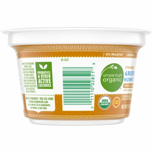 Simple Truth Organic™ Strained Vanilla Bean Greek Nonfat Yogurt Perspective: left