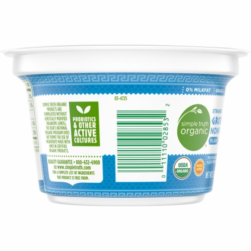 Simple Truth Organic® Strained Plain Nonfat Greek Yogurt Perspective: left