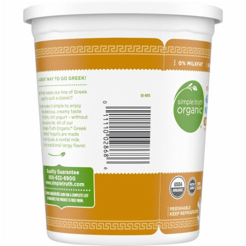 Simple Truth Organic® Strained Vanilla Bean Greek Nonfat Yogurt Perspective: left
