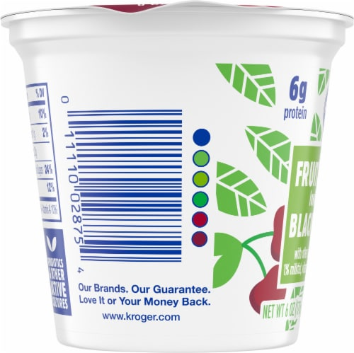 Kroger® Black Cherry Fruit on the Bottom Lowfat Yogurt Perspective: left