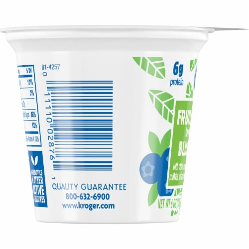 Kroger® Blueberry Fruit on the Bottom Lowfat Yogurt Perspective: left