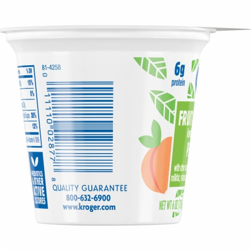 Kroger® Peach Fruit on the Bottom Lowfat Yogurt Perspective: left