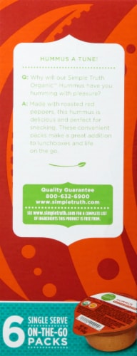 Simple Truth Organic™ Roasted Red Pepper Hummus Perspective: left