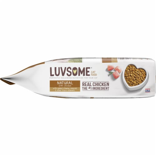 Luvsome™ Natural Chicken Cat Food Perspective: left