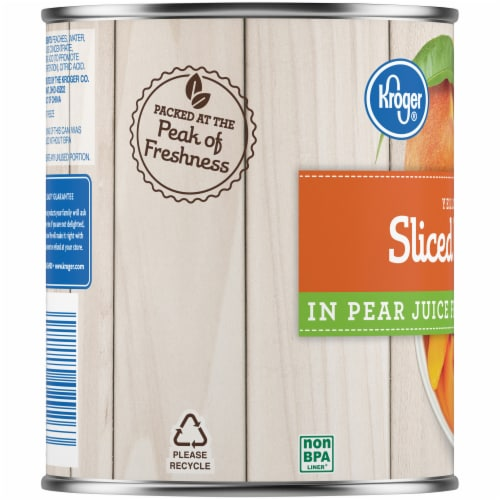 Kroger® Sliced Peaches in Pear Juice Perspective: left