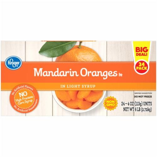 Kroger® Mandarin Oranges in Light Syrup Cups 24 Count Perspective: left