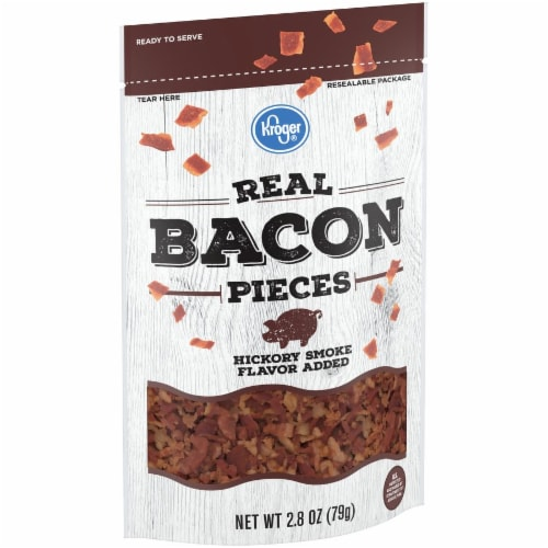 Kroger Hickory Smoke Flavored Real Bacon Pieces Perspective: left