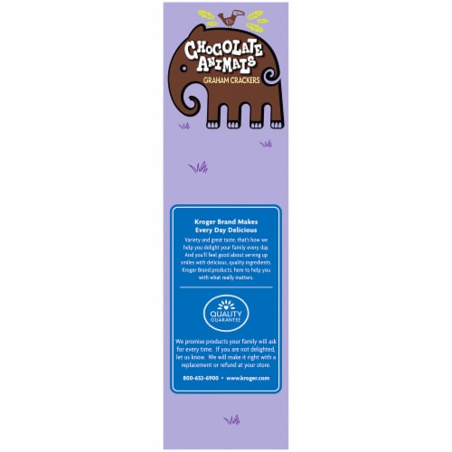 Kroger® Chocolate Animals Graham Crackers Perspective: left