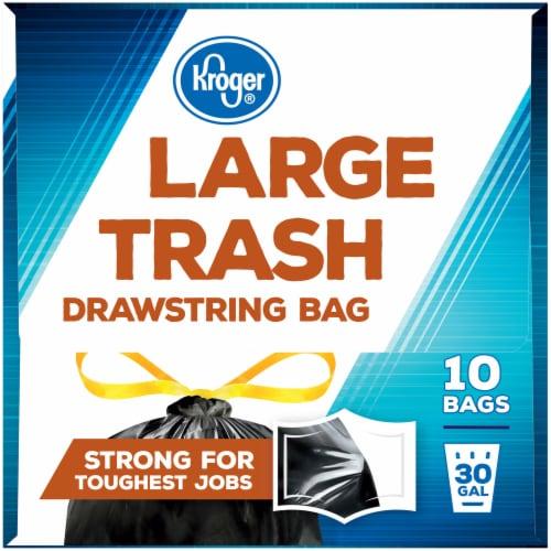 Kroger®  Large 30 Gal Trash Drawstring Bag Perspective: left