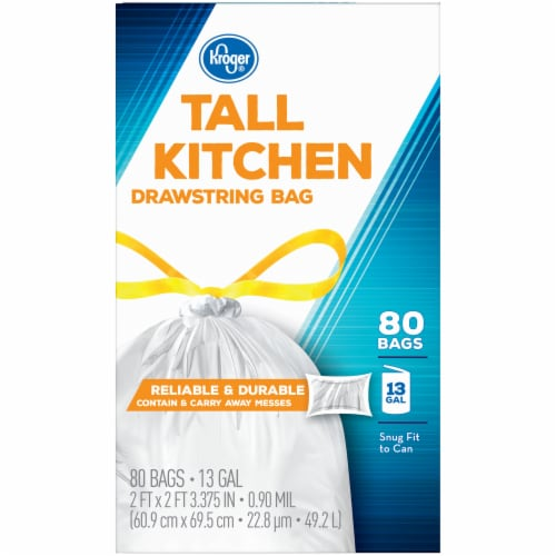 Kroger® Tall Kitchen Drawstring Bags Perspective: left