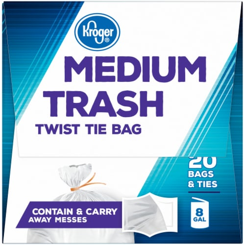 Kroger®  Medium 8 Gallon Twist Tie Trash Bags Perspective: left