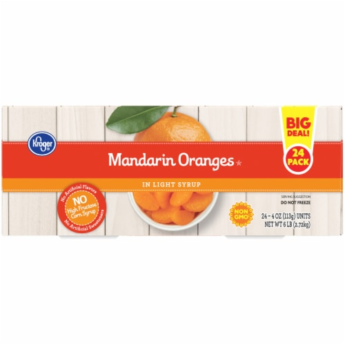 Kroger® Mandarin Oranges in Light Syrup Cups 24 Count Perspective: left