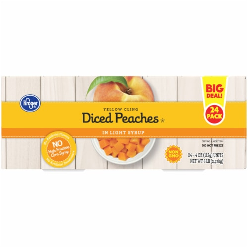 Kroger® Yellow Clean Diced Peaches in Light Syrup Fruit Cups Perspective: left