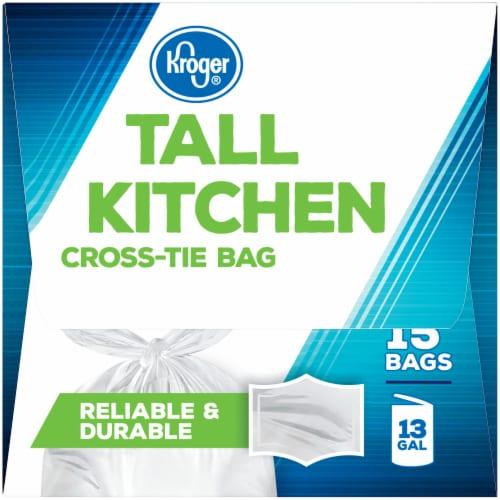 Kroger® Tall Kitchen Cross Tie Bags Perspective: left