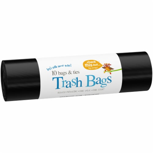 Check This Out™ 30-Gallon Black Trash Bags Perspective: left