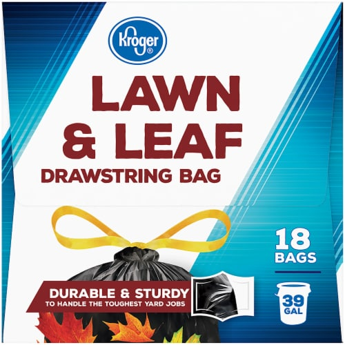 Kroger® 39 Gallon Lawn & Leaf Drawstring Bags Perspective: left