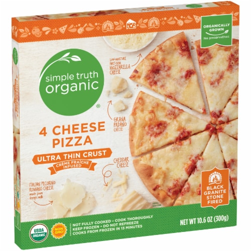 Simple Truth Organic® 4 Cheese Ultra-Thin Crust Pizza Perspective: left