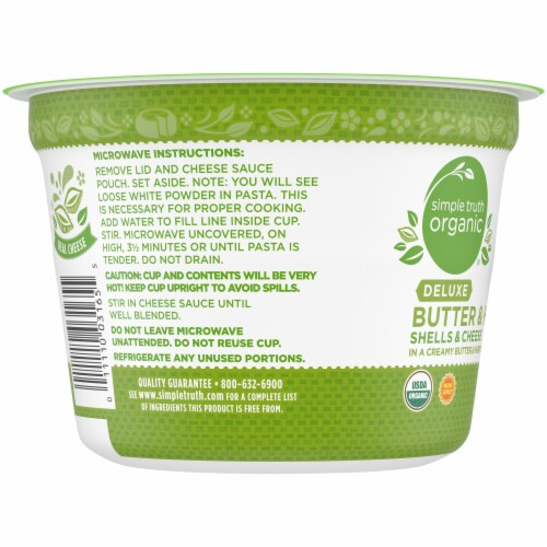 Simple Truth Organic™ Deluxe Butter & Herb Shells & Cheese Cup Perspective: left