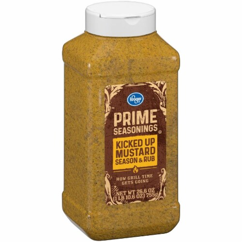 Kroger® Prime Seasonings Kicked Up Mustard Season & Rub Perspective: left