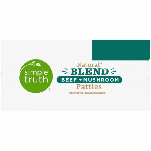 Simple Truth™ Natural Blend Beef + Mushroom Patties 6 Count Perspective: left
