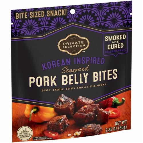 Private Selection™ Korean Inspired Seasoned Pork Belly Bites Perspective: left