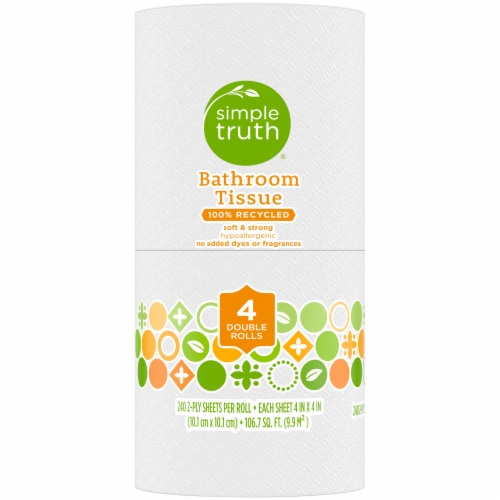 Simple Truth® 100% Recycled Bath Tissue Double Rolls Perspective: left