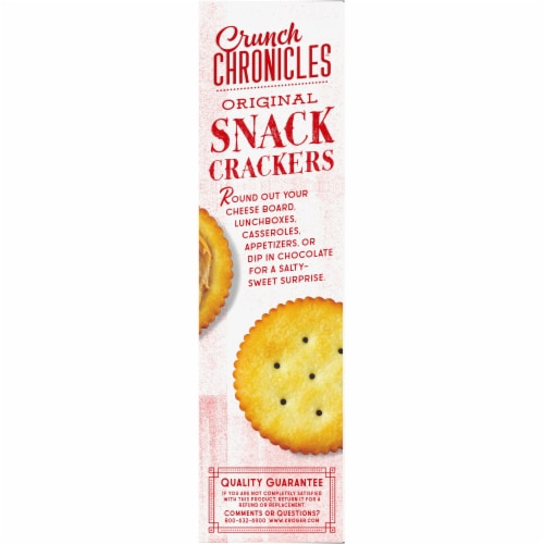 Crunch Chronicles™ Original Snack Crackers Perspective: left