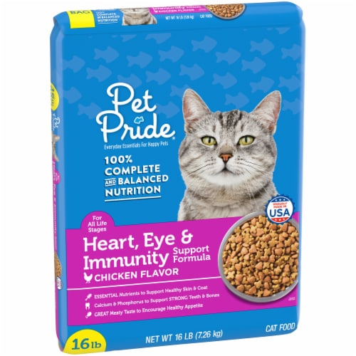 Pet Pride® Chicken Flavor Heart Eye & Immunity Support Formula Dry Cat Food Perspective: left