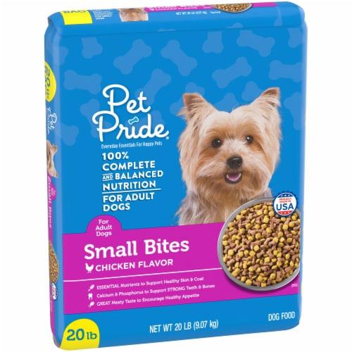 Pet Pride® Small Bites Chicken Flavor Adult Dog Food Perspective: left