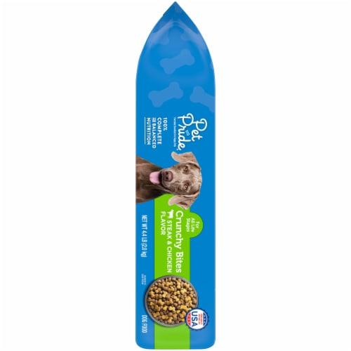 Pet Pride™ Crunchy Bites Steak & Chicken Flavor Dog Food Perspective: left