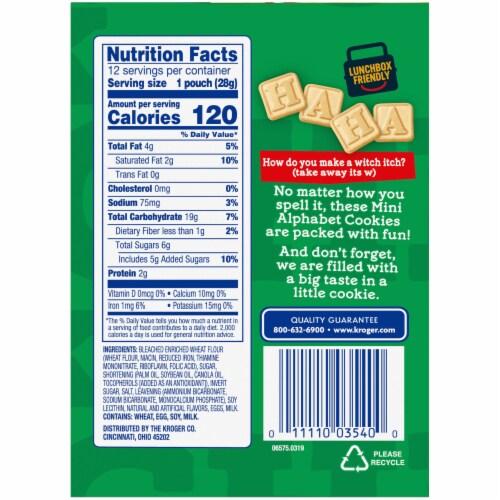 Kroger® Mini Alphabet Cookie Snack Packs Perspective: left
