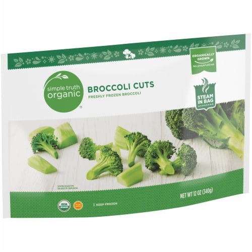 Simple Truth Organic® Freshly Frozen Broccoli Cuts Perspective: left