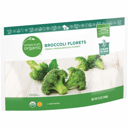 Simple Truth Organic® Freshly Frozen Broccoli Florets Perspective: left