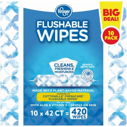 Kroger® Flushable Wipes Perspective: left
