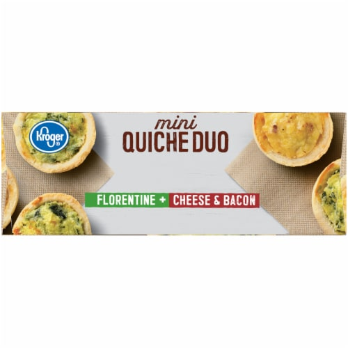 Kroger® Florentine Cheese & Bacon Mini Quiche Duo Perspective: left