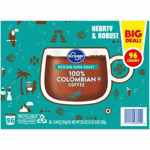 Kroger® 100% Colombian Medium Dark Roast K-Cup Pods Perspective: left