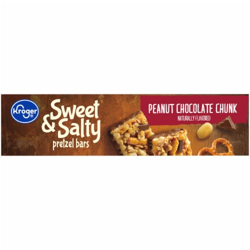 Kroger® Sweet & Salty Peanut Chocolate Chunk Pretzel Bars Perspective: left