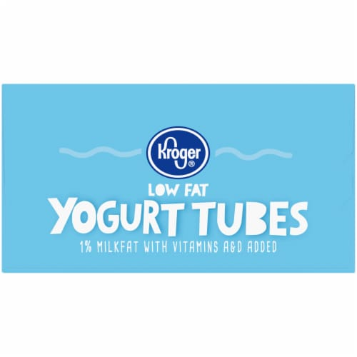 Kroger® Strawberry & Vanilla Low Fat Yogurt Tubes Variety Pack Perspective: left