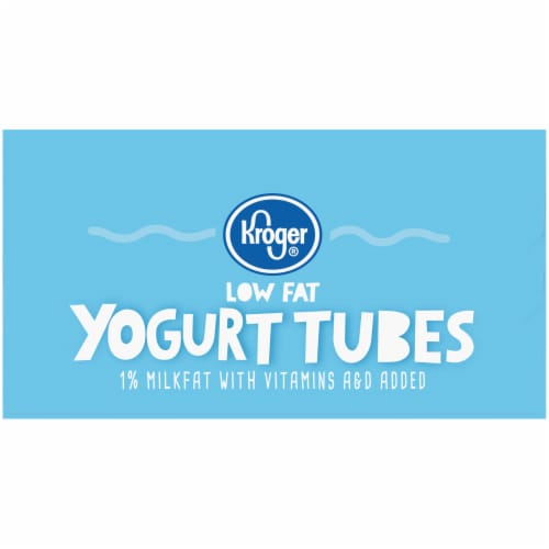 Kroger® Strawberry Banana & Cherry Low Fat Yogurt Tubes Variety Pack Perspective: left