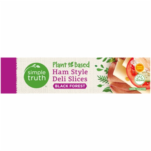 Simple Truth™ Plant-Based Black Forest Ham Style Deli Slices Box Perspective: left
