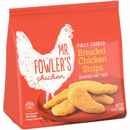 Mr. Fowler's™ Breaded Chicken Strips Perspective: left