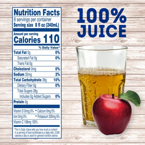 Kroger® 100% Apple Juice from Concentrate Perspective: left