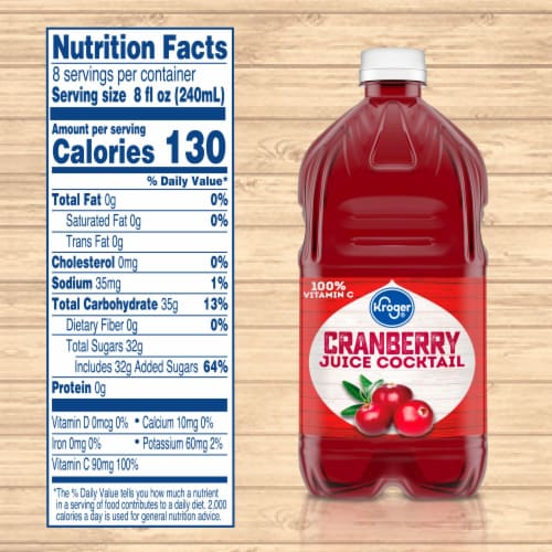 Kroger® Cranberry Juice Cocktail Perspective: left